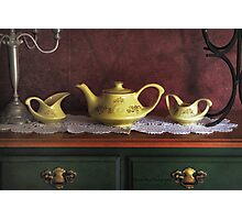 Vintage Yellow Tea Set - Selected in Solo Exhibition women in the arts Photographic Print