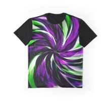 Purple Heart Flower Graphic T-Shirt