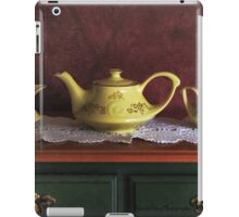 Vintage Yellow Tea Set - Selected in Solo Exhibition women in the arts iPad Case/Skin