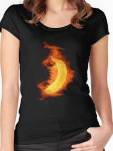 Flaming Banana Women's Fitted Scoop T-Shirt