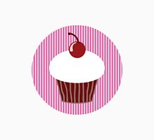 Vanilla Cupcake with Pink Stripes Unisex T-Shirt