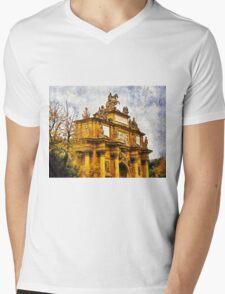 Triumphal arch, Piazza Della Liberta, Florence, Italy  Mens V-Neck T-Shirt