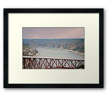 Spanning the Rio Grande Framed Print