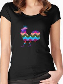 Rooster Chevron Women's Fitted Scoop T-Shirt