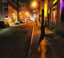 Saturday Night on State Street by RC deWinter