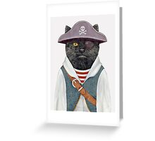 Pirate Cat Greeting Card