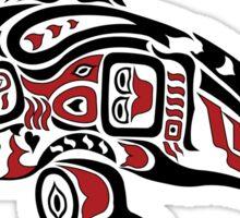 Haida Tlingit Killer Whale, Native American Orca - Red Sticker