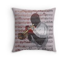 Trumpeter Score Throw Pillow