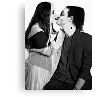 Herman & Lilly Munster Kiss Canvas Print