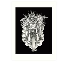 Forever a biker RH Art Print