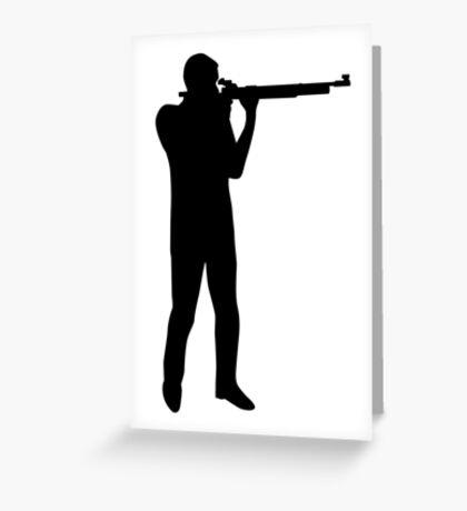 Sports shooting rifle Greeting Card