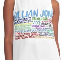 Killian Jones Quote Spam Contrast Tank