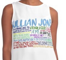 Killian Jones Quote Spam Contrast Tank