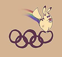 Gay Olympian Pikachu by zerojigoku