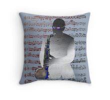 Saxophonist Score Throw Pillow