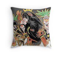 crow king Throw Pillow