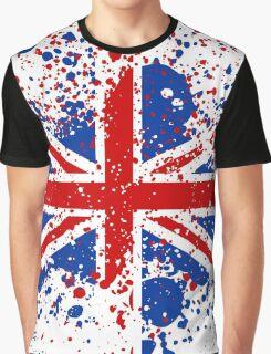 UK Union Jack Splash Colors Flag Graphic T-Shirt