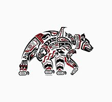 Kodiak - Original Haida, Tlingit Grizzly Bear Art - Red Unisex T-Shirt