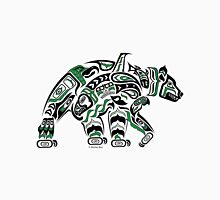 Kodiak - Original Haida, Tlingit Grizzly Bear Art - Green Women's Relaxed Fit T-Shirt