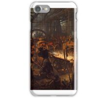 The Iron Rolling Mill Painting Painted originally by Adolph Menzel iPhone Case/Skin