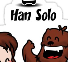 Han with Friend Sticker