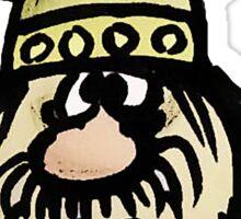Shocked Viking Cartoon Sticker