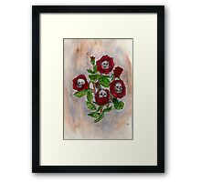 Blood and Roses Framed Print