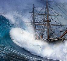 HMS Warrior High seas 1860 by outlawalien