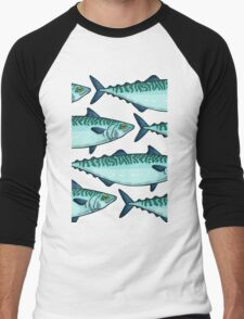 Tasty mackerel pattern Men's Baseball ¾ T-Shirt