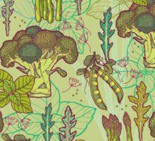 Green vegetables pattern. Sticker