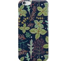 dark herbs pattern iPhone Case/Skin