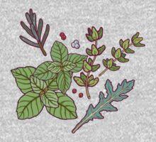 dark herbs pattern Kids Tee