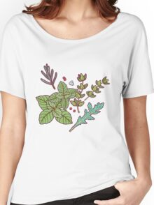 dark herbs pattern Women's Relaxed Fit T-Shirt