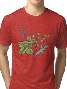 dark herbs pattern Tri-blend T-Shirt
