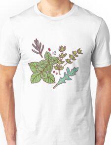 dark herbs pattern Unisex T-Shirt