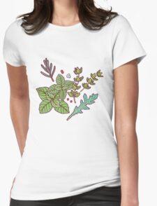 dark herbs pattern Womens Fitted T-Shirt
