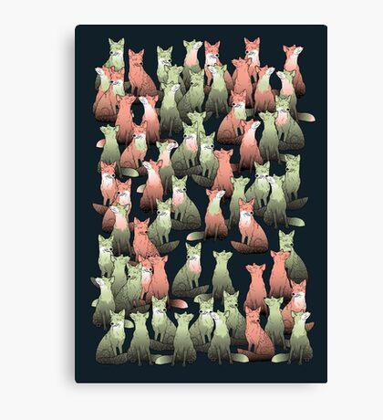 Sleeping foxes Canvas Print