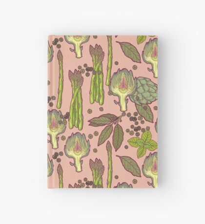 spring asparagus Hardcover Journal
