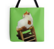 Cat playing perched Tote Bag