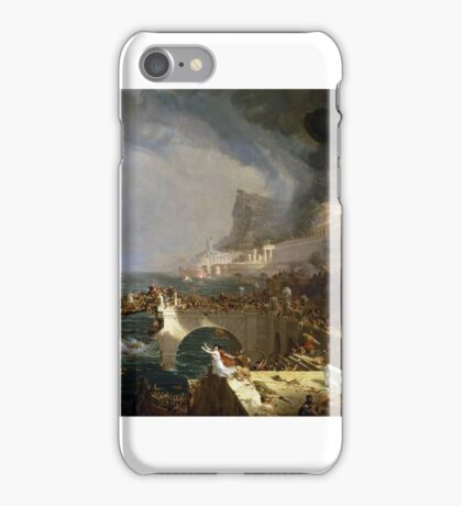 THOMAS COLE, THE COURSE OF EMPIRE - DESTRUCTION,  iPhone Case/Skin