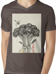Mr. Broccoli Mens V-Neck T-Shirt