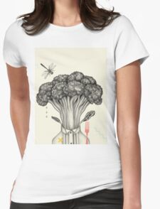 Mr. Broccoli Womens Fitted T-Shirt