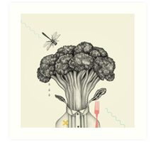 Mr. Broccoli Art Print