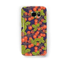 mysterious night in space garden with cherry tomatoes and basil Samsung Galaxy Case/Skin