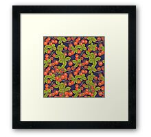 mysterious night in space garden with cherry tomatoes and basil Framed Print