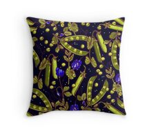 Pea garden Throw Pillow