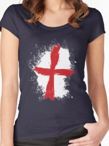 England - Paint Splatter Women's Fitted Scoop T-Shirt