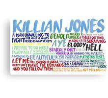 Killian Jones Quote Spam Canvas Print