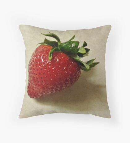 one red berry Throw Pillow