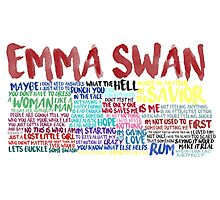Emma Swan Quote Spam  Photographic Print